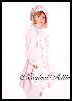 Custom Boutique Halloween LITTLE BO PEEP Girl Size Costume Set in Pink. $95.00, via Etsy.