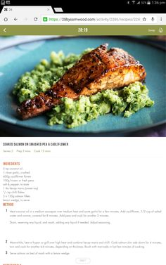 Salmon and cauliflower mash Healthy Food Alternatives, Healthy Eating Recipes, Paleo Recipes, Whole Food Recipes, Cooking Recipes, Healthy Meals, 28 By Sam Wood, Seafood Recipes, Seafood Meals