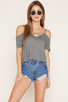 Open-Shoulder Crisscross Top | Forever 21 - 2000153312