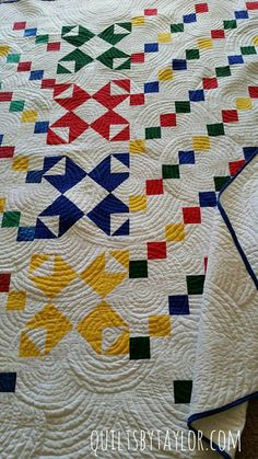 Modern Patchwork Quilt, Finished Quilt for Sale