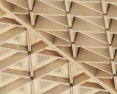 Diagrid timber soffit -  Oliver Justice #Marseille #Urban Design #Architecture