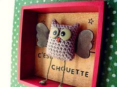 Cute little owl diorama.