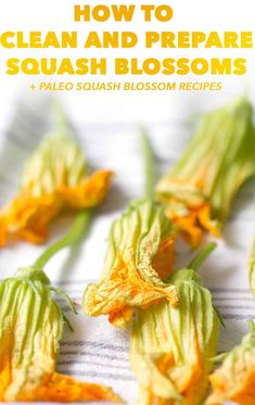 Squash blossoms are a edible flower that is found in gardens or farmer's markets. They can be intimidating so here's how to clean & prepare squash blossoms. Vegetarian Barbecue, Vegetarian Recipes, Cooking Recipes, Healthy Recipes, Barbecue Recipes, Oven Recipes, Vegetarian Cooking, Easy Cooking, Easy Recipes