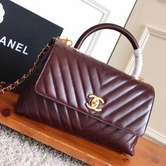 a75ebbe616623b Chanel Shiny Chevron Calfskin Coco Handle Small Bag Size: 28 cm Top quality  original calf leather Gold-tone hardware Tips: I would r.