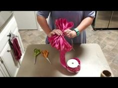 How to make a Single Ribbon Bow by Hand - YouTube