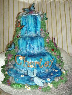 waterfall cake designs | Fondant Fetish - Butterfly Waterfall cake