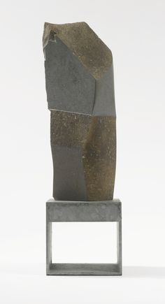 Isamu Noguchi (Japanese, American 1904-1988) Noguchi's late work was a perfect dichotomy of the organic punctuated by geometry. Notice the classical greek proportions  applied  to a Japanese nature aesthetic and all within the formal structure of modernism.