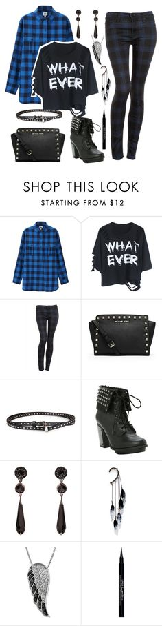 """""""Cute!!"""" by watermelonandmusyc ❤ liked on Polyvore featuring Uniqlo, Hudson Jeans, MICHAEL Michael Kors, Chicnova Fashion, Givenchy, Anni Jürgenson and Jewel Exclusive"""