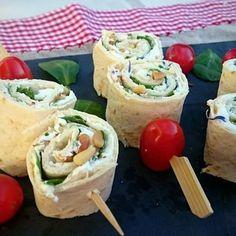 Wrap au chèvre frais & miel Tacos, Veggies, Mexican, Ethnic Recipes, Food, Honey, Vegetarian Cooking, Healthy, Essen