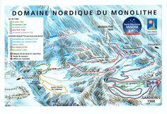 DOMAINE NORDIQUE DU MONOLITHE A SARDIERES ouvert du 22/12/12 au 30/03/13 (sous réserve d'enneigement) - 35 km de pistes