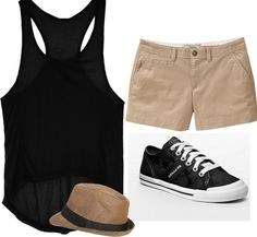 """""""black & Khaki outfit"""" by becca7977 on Polyvore"""