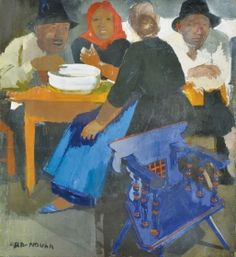 Aba-Novák, Vilmos Peasants (Lunch at the market) Chaim Soutine, Amedeo Modigliani, Edvard Munch, Wassily Kandinsky, Aba, Painting & Drawing, Art Nouveau, Gallery, Drawings