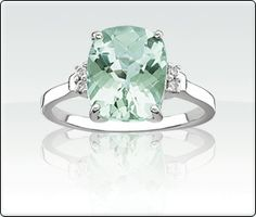 Green Amethyst And Diamond Ring  $189.99  Green Amethyst And Diamond Ring - this item is a P4 metal, which consists of silver, palladium, gold, platinum & a patented alloy.