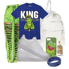 A fashion look from January 2015 featuring NIKE shoes, Corsia backpacks and Swarovski bracelets. Browse and shop related looks.