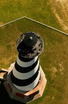 Aerial view of Cape Hatteras Lighthouse.