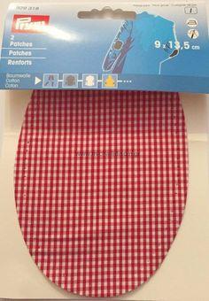 731654a180d Θερμοκολλητικά Σετ 3 χρωμάτων Patches Prym Βαμβακερά Καρό. Κολλάνε με το  σίδερο ή τα ράβεται πάνω στο ύφασμα. Συσκευασία: Σετ 3 χρωμάτων Κόκκινο /  Γαλάζιο/ ...