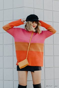 Colorblocked Ribbed Knit Sweater | Forever21