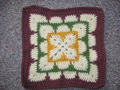 Ravelry: Larksfoot Inspired Granny Square pattern by From Home Crochet Socks Pattern, Granny Square Crochet Pattern, Crochet Blocks, Crochet Bunting, Crochet Stitches Patterns, Crochet Squares, Crochet Granny, Crochet Motif, Stitch Patterns