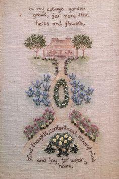 cottage garden hand embroidery pattern -- stitchingcow