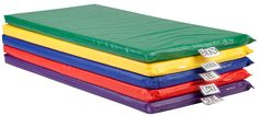 Children's Rest Mat with Vinyl Covering in Set of 5 - Assorted Colors