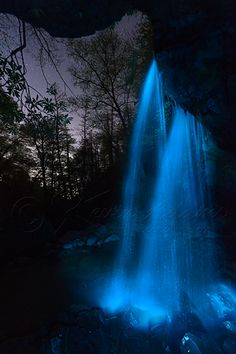 Nightly Night Image – Light Painted Waterfall & Pinpoint Stars