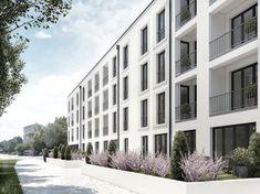 Neubauprojekt der Gruppe M-CONCEPT in München Bogenhausen-Englschalking.