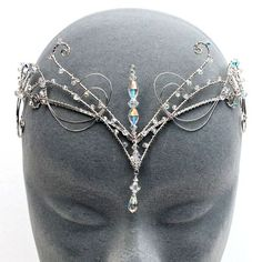 Collection featuring Eye of the Sea Jewelry, TIARA Hair Accessories, and 93 other items Offbeat Bride, Circlet, Fantasy Jewelry, Tiaras And Crowns, Hair Jewelry, Jewellery, Headdress, Ideias Fashion, Jewelry Accessories