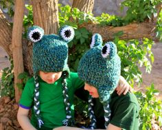 Frog hat.Crochet frog hat.Made to order. by KrazyHats1 on Etsy, $28.99