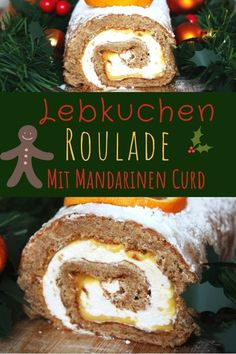 Gingerbread Roulade with Mandarin Curd the perfect dessert for Christmas and Advent with tips for the perfect biscuit roll! The post Gingerbread roulade with vanilla cream and tangerine curd appeared first on Dessert Park. Holiday Cakes, Christmas Desserts, Christmas Baking, Merry Christmas, Köstliche Desserts, Dessert Recipes, Cake Recipes, Dessert Parfait, Vanilla Whipped Cream