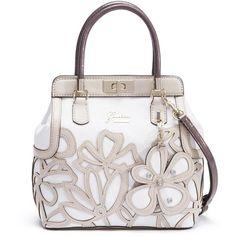 GUESS Floren Turnlock Satchel ( 120) ❤ liked on Polyvore Guess Handbags d00a1e188d84b