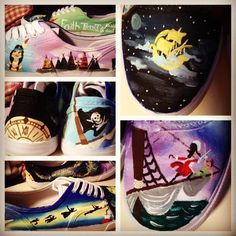 Peter Pan painted shoes
