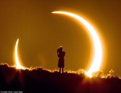 Stunning image solar eclipse... taken from 1.5 miles away