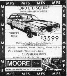 Car Dealerships, Ford Ltd, Toledo Ohio, Old Advertisements, Busses, Old Ads, Station Wagon, Vintage Cars, Transportation