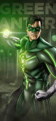 Based on the Injustice variant of Green Lantern. Cyborg Dc Comics, Dc Comics Superheroes, Dc Comics Art, Best Superhero, Superhero Design, Green Lantern Wallpaper, Green Lantern Comics, Green Lantern Hal Jordan, Avengers Cartoon