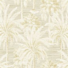Dream Of Palm Trees Beige Texture  Modern Botanical Designed pattern that gives your walls a beach glamour with this palm tree wallpaper. The sand colored design has a monochrome print for a modern look. Small strings add a textured finish.