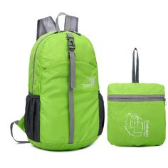 4d86ed04271b Men Women Nylon Lightweight Foldable backpack handy Collapsible portable  daypack Travel Folding Bag water resistant-in Backpacks from Luggage   Bags  on ...