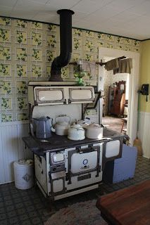 copper clad wood and coal burning cook range circa 1900
