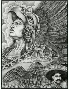 How to Draw Chicano Art – Classic How to Draw Chicano Art In 2018 Chicano Art Tattoos, Chicano Drawings, Art Drawings, Drawing Faces, Inka Tattoo, Aztec Warrior Tattoo, Aztec Drawing, Aztecas Art, Aztec Tattoo Designs