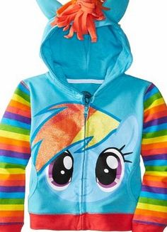 My Little Pony Rainbow Dash Blue Girls Costume Hoodie Sweatshirt (Girls 10/12) This hoodie is perfect for your little one who is a fan of My Little Pony. It is officially licensed and is perfect for your little one to transform into the cute little (Barcode EAN = 0887648043503) http://www.comparestoreprices.co.uk/kids-clothes--girls/my-little-pony-rainbow-dash-blue-girls-costume-hoodie-sweatshirt-girls-10-12-.asp