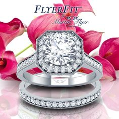 When two become one.... #Engagement #ring #MartinFlyer #wedding #jewelry #bridal