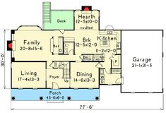 I like the kitchen and hearth room layout