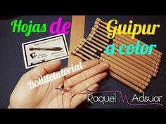 Hoja de Guipur de Colores - Bolillotutorial Adsuar - Encajes de Bolillos - YouTube