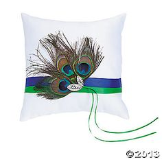 Peacock Wedding Ring Pillow, this is totally for you Lauren!