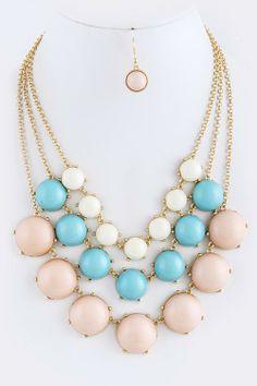 Bubble Gum Drops Necklace
