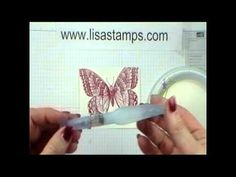 Stampin' Up! Shimmer Embossing card. Super cute, quick and easy! Technique and video demonstrated and shared by Lisa Bowell-Stampin' Up! Demonstrator. @ www.LisaStamps.com