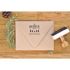 A return address stamp for the woodsy fam #substationpaperie  etys.com/shop/substationpaperie