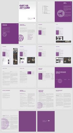 GistUs Ad Card / Layout design by Kasia Kaczmarek, via Behance #layout