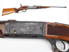 "GUN OF THE DAY – Engraved Savage Model 1899 Rifle. Engraved with deluxe wood and a tang sight, this .250-3000 M99 also features a ""cartridge counter"" – handy to keep track of just how many rounds were left in the six-shot rotary magazine.  Savage's lever-actions, like Marlin and Winchester rifles, were made in several configurations from shorter carbines to longer muskets."