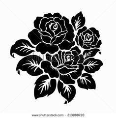 Rose motif, Flower design elements vector