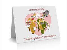 Wedding Congrats Green Banana and Plantain Card